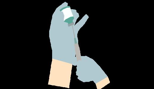 注射薬調製をしているイラスト