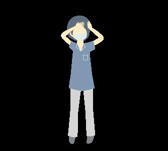 熱が出たかもしれない人のイラスト