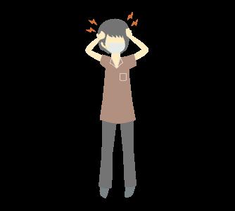 頭痛に悩む人のイラスト