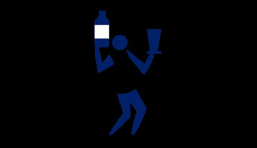 水薬を計る薬剤師のピクトグラム