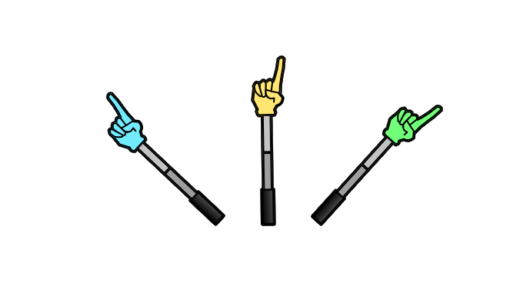指差し棒のイラスト